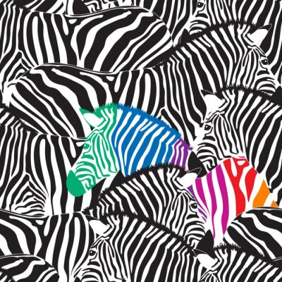 Fototapeta Tekstury dzikich zwierząt. Striped czarno-białe.