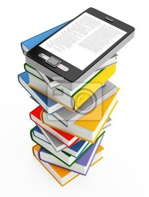 telefon komórkowy i książki