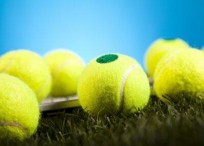 Fototapeta Tennis Ball detal, trawa