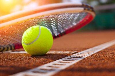 Fototapeta .tennis piłki na korcie tenisowym