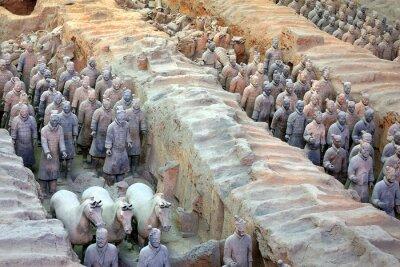 Fototapeta Terakotowa Armia w formacji w Xian w Chinach