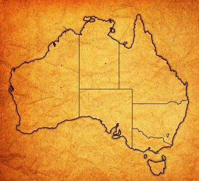 Fototapeta terytoria na mapie Australii