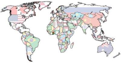 Fototapeta terytorium Ghany dotyczącej rzeczywistej mapie świata