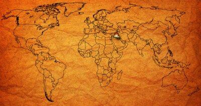 Fototapeta terytorium Iraku na mapie świata