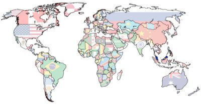 Fototapeta terytorium Malezji na mapie świata