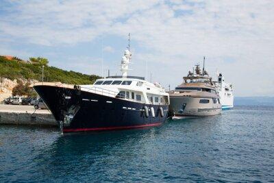 Fototapeta Teure Yachten im Hafen