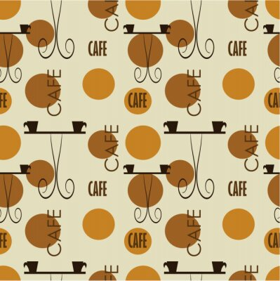 Fototapeta Texture Cafe