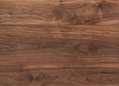 Fototapeta Texture of black walnut surface with oil finish