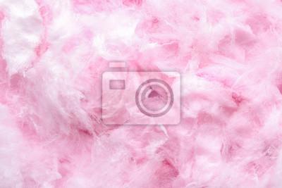 Fototapeta Texture of cotton candy, closeup