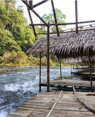 Fototapeta Thai bambusowa chata