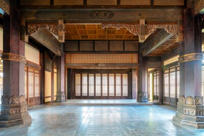 Fototapeta The interior of ancient buildings in the Qin and Han dynasties of China