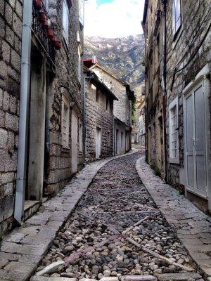 Fototapeta The oldest street in Montenegro