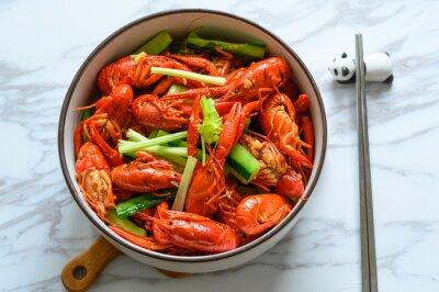 Fototapeta The plate of delicious crayfish