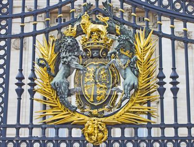 The Royal Seal w Pałacu Buckingham Gate, London, England