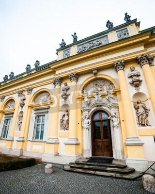 Fototapeta The royal Wilanow Palace in Warsaw, Poland.