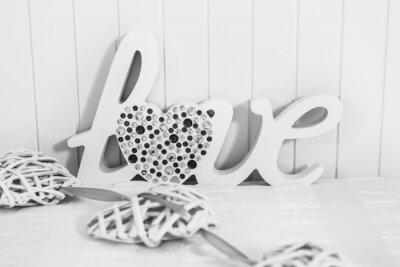 Fototapeta The word Love with heart