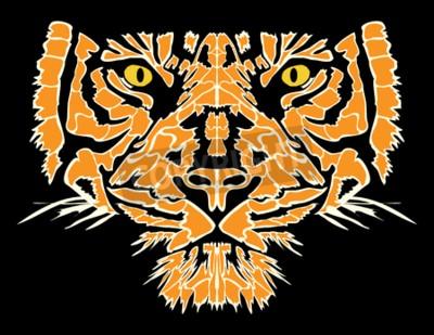 Fototapeta Tiger ilustracji wektorowych głowy