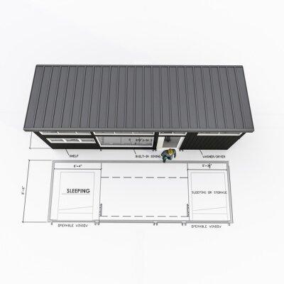 Fototapeta tiny house project isolated on white