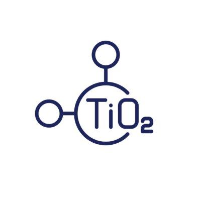 Fototapeta titanium dioxide molecule line icon