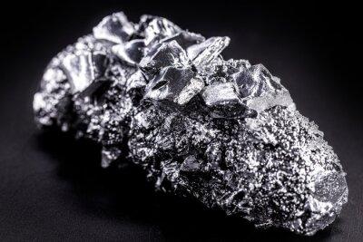 Fototapeta titanium metal alloy, used in industry, super resistant metal