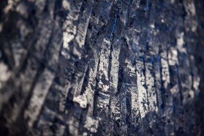 Fototapeta Titanium metallurgy plant. Crushed titanium metal sponge close-up. Low depth of field.