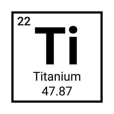 Fototapeta Titanium periodic element icon. Titanium symbol chemistry