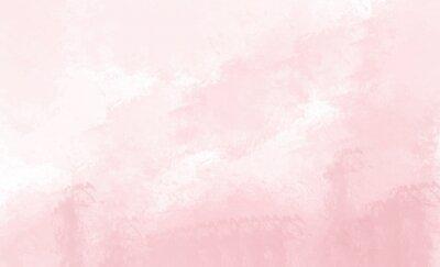 Fototapeta Tło akwarela różowy. Rysunek cyfrowy.