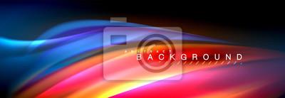 Fototapeta Tło linii płynnej fali koloru. Modny szablon streszczenie układ do prezentacji biznesowych lub technologii, plakat internetowy lub okładka broszury internetowej, tapety