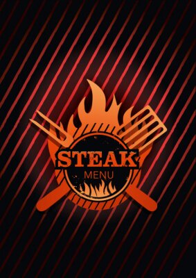 Fototapeta Tło Menu Steak
