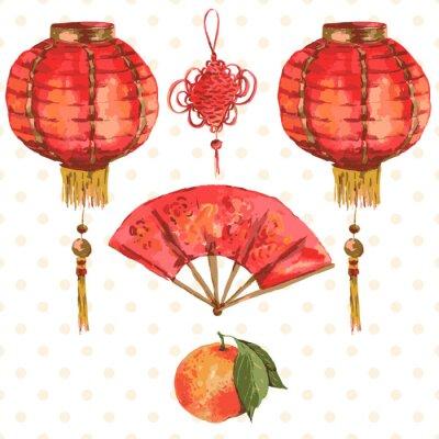 Fototapeta Tło Oriental Chiński Nowy Rok Światła elementów, Wentylacja
