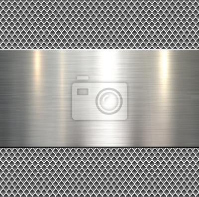 Fototapeta Tło, polerowane metalowe tekstury