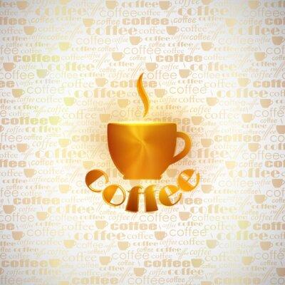 Fototapeta Tło z filiżanką kawy
