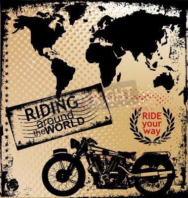 Fototapeta tło z wizerunkiem motocykla