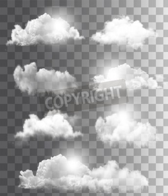 Fototapeta Tło z zachmurzonego nieba. Wektor.