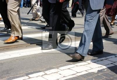 Fototapeta tłum crossing