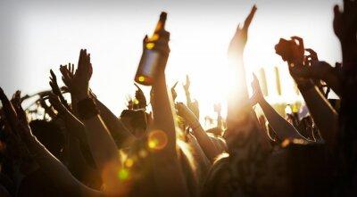 Fototapeta Tłumy zabawie na wolnym powietrzu Music Festival