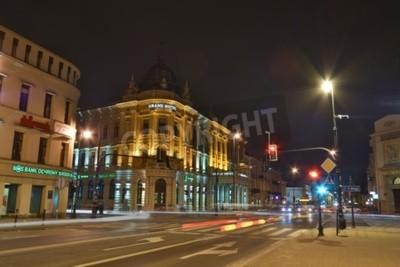 Fototapeta To jest widok z Grand Hotel i Hotel Europa w Lublinie. 9 marca 2016 roku Lublin, Polska.
