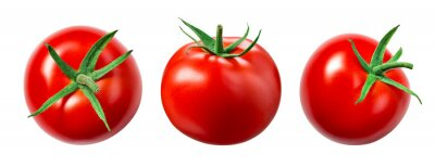 Fototapeta Tomato isolate. Tomato on white background. Tomatoes top view, side view. With clipping path.