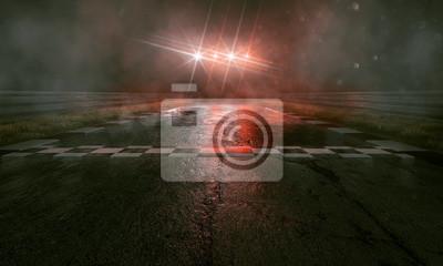 Fototapeta Tor wyścigowy w deszczu