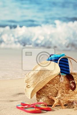 Torba plażowa na plaży lato