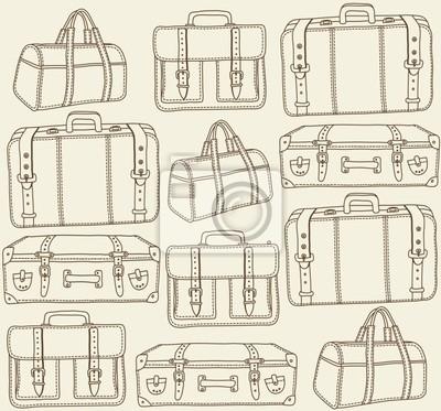 Torby podróżne seamless pattern