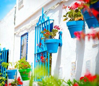 Fototapeta Torremolinos. Costa del Sol, Andaluzja. Typowy Biała Wieś