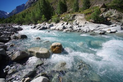 Fototapeta torrent de montagne - alpes françaises