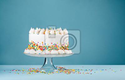 Fototapeta Tort urodzinowy z posypką
