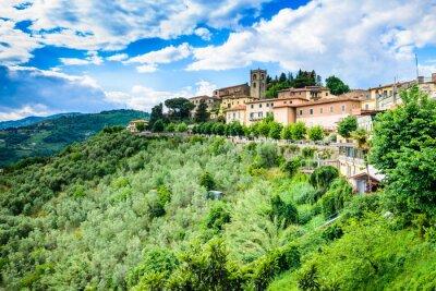 Fototapeta Toskania, Montecatini Alto panoramiczny view.Typical Krajobraz Toskanii.