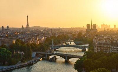 Fototapeta Tout Paris au coucher de soleil