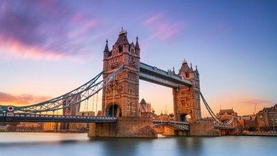 Fototapeta tower bridge in london at sunset London UK March