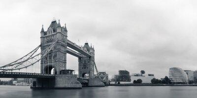 Fototapeta Tower Bridge w czerni i bieli