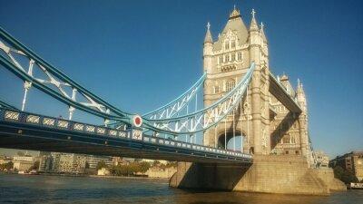 Fototapeta Tower Bridge w Londynie w Wielkiej Brytanii Tamiza