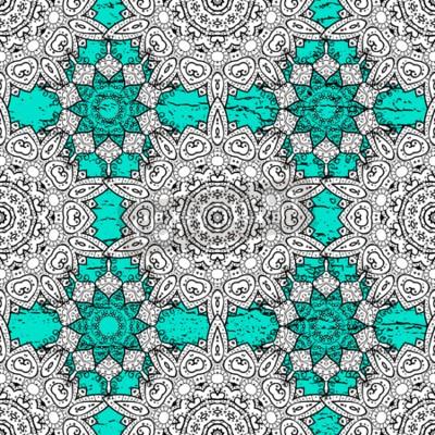 Fototapeta Tradycyjne ornamenty orientalne. Klasyczne rocznika tle. Bez szwu klasyczny wektor niebieski i biały wzór.
